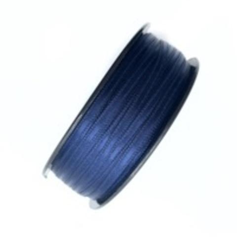 Атласная лента 3,5 мм, синяя