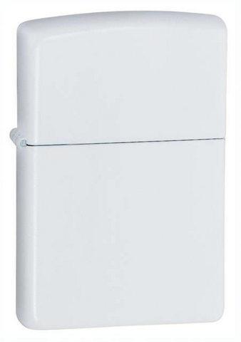 Зажигалка Zippo Classic с покрытием White Matte, латунь/сталь, белая, матовая, 36x12x56 мм