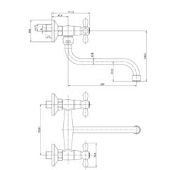 Смеситель KAISER Carlson 11099 для кухни схема