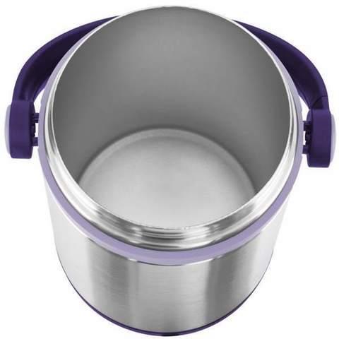 Термос для еды Emsa Mobility (1,2 литра), фиолетовый/стальной