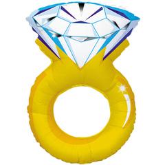 К Кольцо с бриллиантом, 40''/102 см, 1 шт.