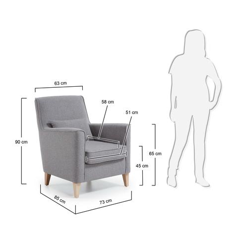 Кресло Fyna серое
