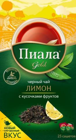"Чай ""Пиала голд"" чёрный с лимоном 25*2г"