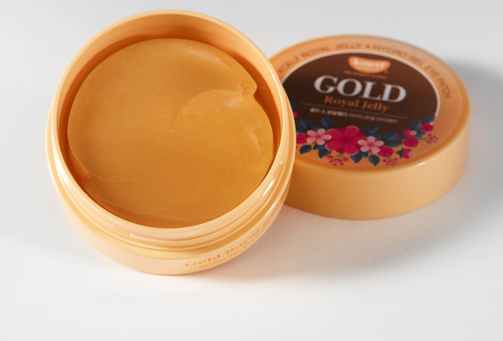 Антивозрастные гидрогелевые патчи с золотом и маточным молочком Petitfee Koelf Gold & Royal Jelly Eye Patch