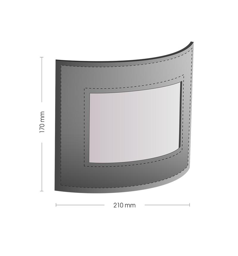 Схематичное изображение кожаная фоторамка Classic.