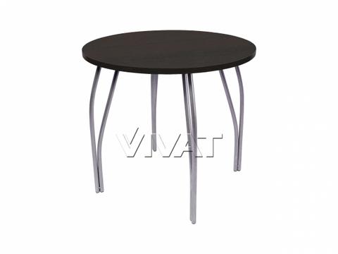 Стол обеденный круглый LС (OC-11) Черное дерево