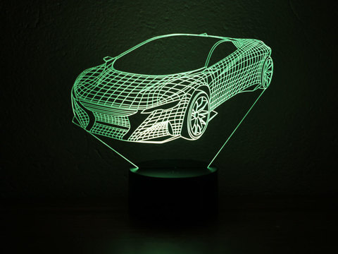 3D ночник Спорткар