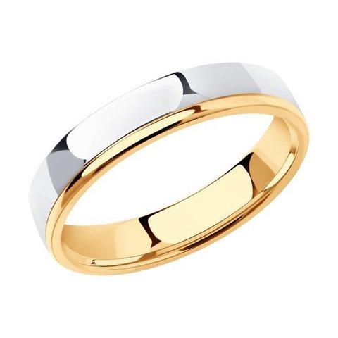 110156 - Обручальное кольцо из комбинированного золота