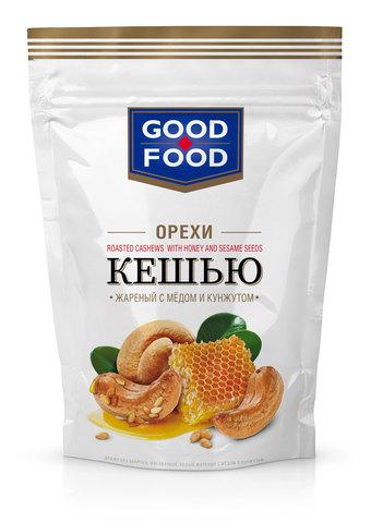 GOOD FOOD Кешью жареный с мёдом и кунжутом 130 г