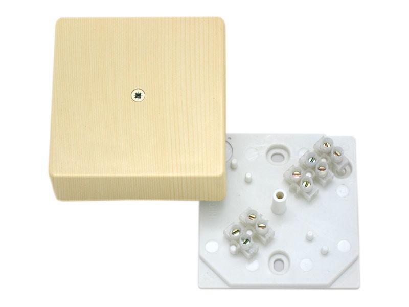 Коробка распаячная КР 75х75х28 ОП сосна, с клем. колодкой, IP40, инд. штрихкод TDM