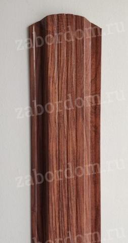 Евроштакетник металлический 115 мм Темное дерево 3D П - образный двусторонний 0.5 мм