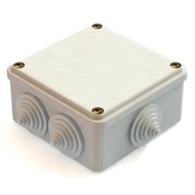 Расп. коробка с крышкой 100х100х55мм IP54, 8вх. инд. штрих-код TDM