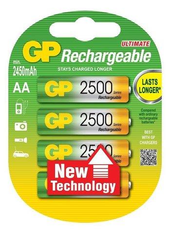 Аккумуляторы GP 250ААHC-U2 Ni-MH АА, R6, 1, 2V, 2500mAh