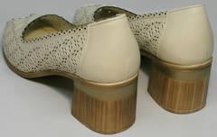 Женские открытые туфли на каблуке летние Sturdy Shoes 87-43 24 Lighte Beige.