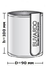 Схема и размер стакана H10. Высота 10 см диаметр 9 см.