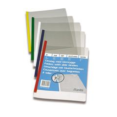 Папка со скрепкошиной для брошюровки Bantex А4 до 30 листов прозрачная (толщина обложки 0.12 мм, 5 штук в упаковке)