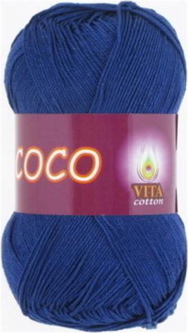 Пряжа Coco (Vita cotton) 3857 Темно-синий