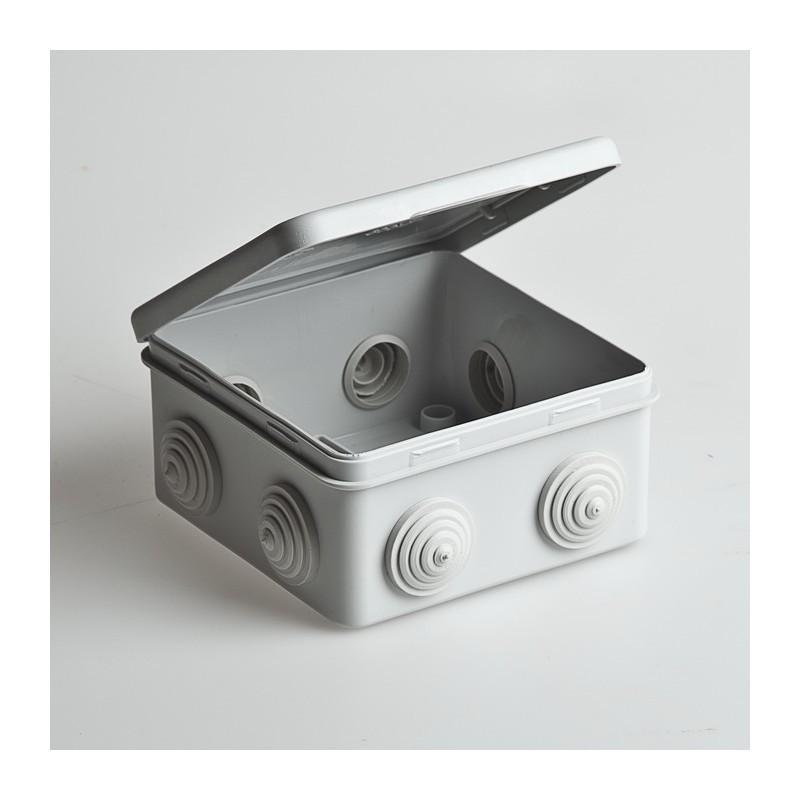 Расп. коробка с крышкой 80х80х50мм IP54, 7вх. инд. штрих-код TDM