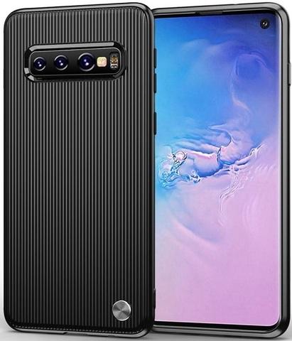 Чехол Samsung Galaxy S 10 цвет Black (черный), серия Bevel, Caseport