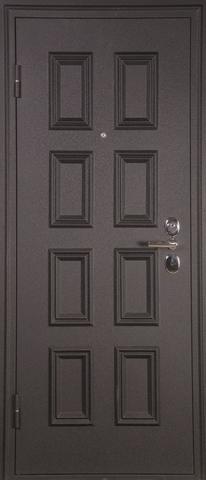 Дверь входная А-4 М стальная, серебро, 2 замка, фабрика Арсенал