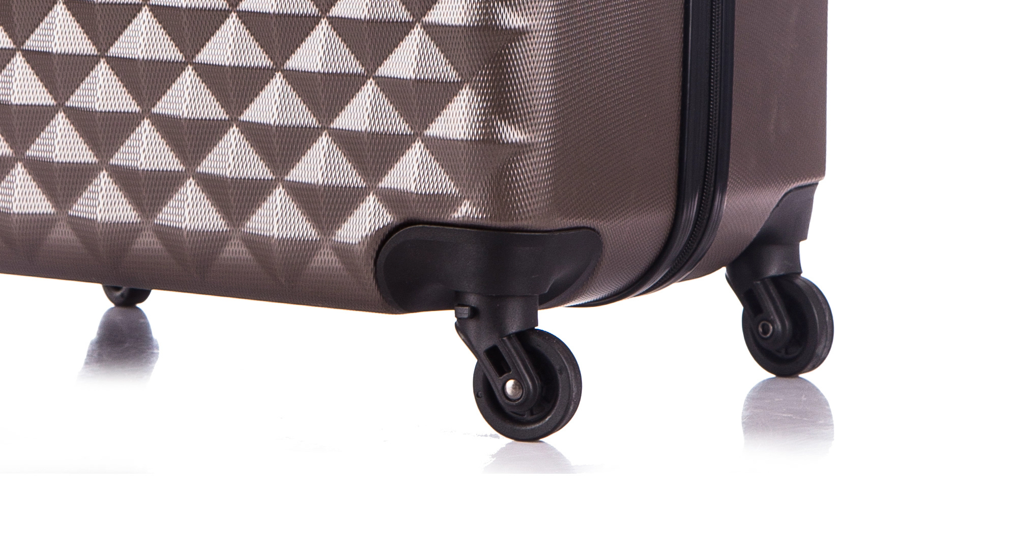 Чемодан со съемными колесами L'case Phatthaya-24 Кофейный (M)