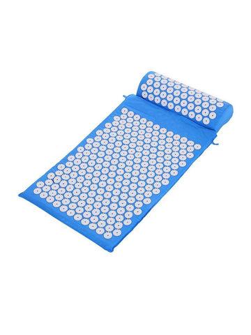 Массажный коврик Acupressure с подушкой (Голубой)