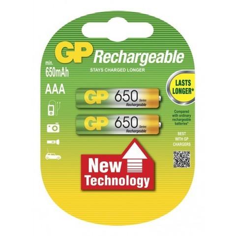 Аккумуляторы GP 65ААAHC-U2 Ni-MH ААA, R03, 1, 2V, 650mAh