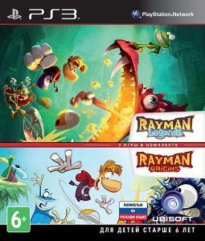 PS3 Rayman Legends + Rayman Origins Комплект (русская версия)