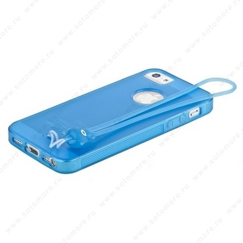 Накладка HOCO для iPhone SE/ 5s/ 5C/ 5 - HOCO Classic TPU crystal case Dark blue