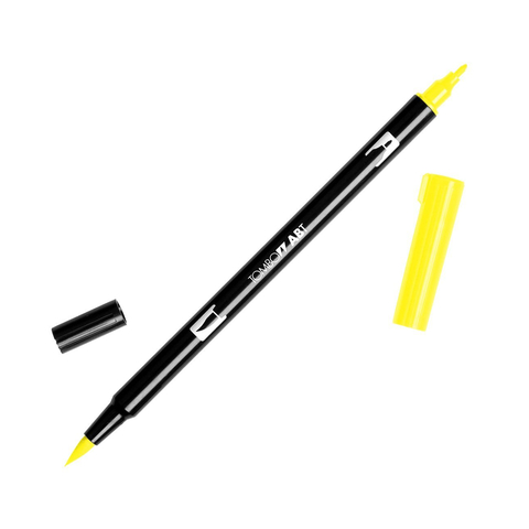 Маркер с двумя наконечниками Tombow Dual Brush Marker- Цвет 055 Process Yellow