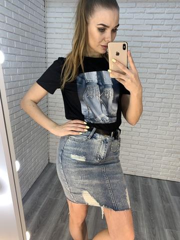 джинсовая юбка удлиненная недорого