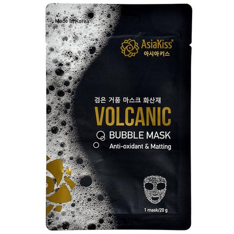 Черная пузырьковая маска с вулканическим пеплом AsiaKiss Bubble Mask Volcanic 20 гр