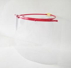 Прозрачный щиток для защиты лица, слизистой оболочки глаз и дыхания