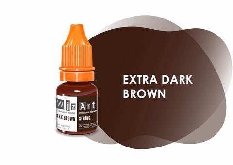 Extra Dark Brown (черно-коричневый холодный) • Wizart Strong • пигмент для бровей