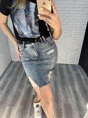 джинсовая юбка удлиненная интернет магазин
