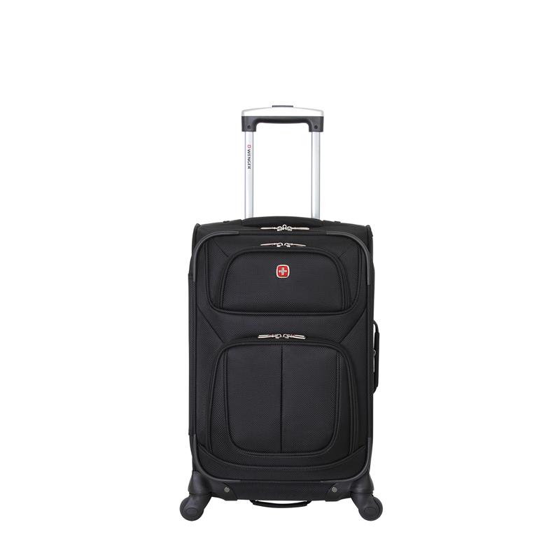 Чемодан WENGER SION, чёрный, полиэстер 750x750D добби, 37x22x60 см, 35 л (WGR6283202161)