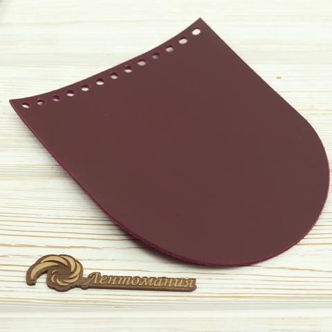 """Клапан для сумочки кожаный """"Вино"""" 15,5*19,5 см"""