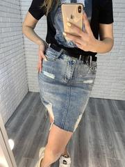 джинсовая юбка удлиненная оптом