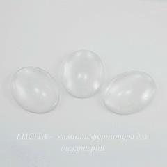 Кабошон овальный прозрачное стекло, 40х30 мм