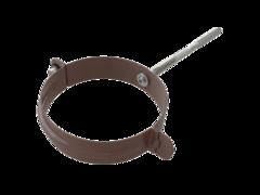 Держатель трубы металл (на кирпич) D100мм коричневый