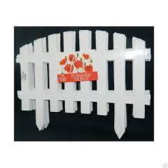 Декоративный забор №2 белый/желтый ПолиСад