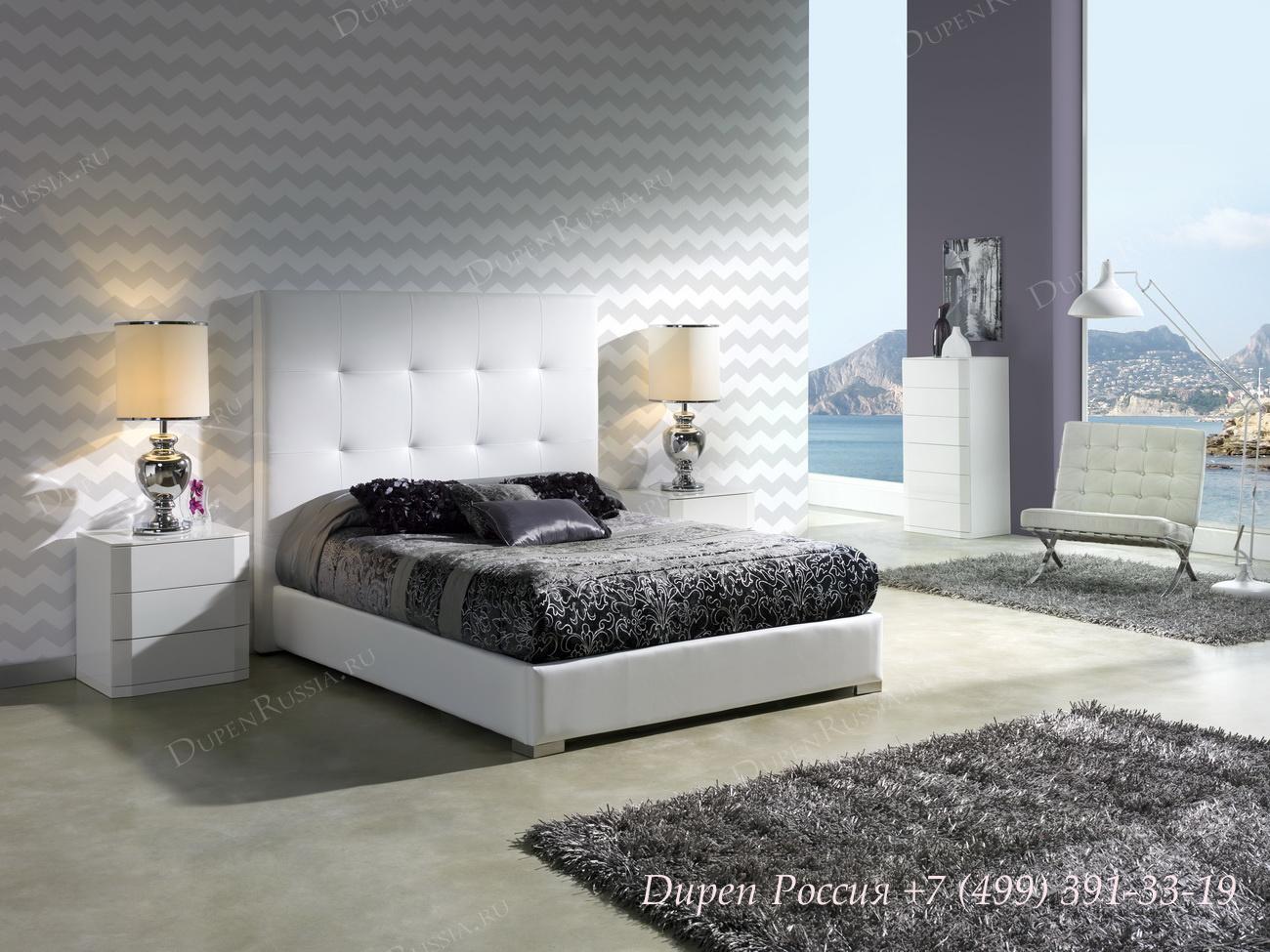 Кровать 638 Patricia, тумба DUPEN M-112, комод DUPEN S-102
