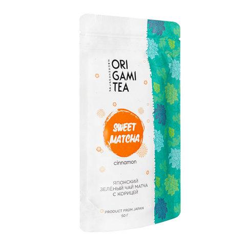 Японский зеленый чай Матча с корицей ORIGAMI TEA 50 гр