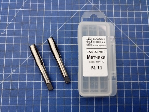 Метчик М11х1,5 (комплект 2шт) ?SN223010 2N(6h) CS(115CrV3) Bucovice(CzTool) 110110