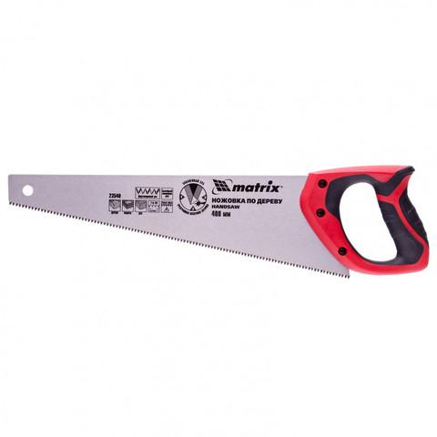 Ножовка по дереву, 400 мм, 7-8 TPI, зуб-3D, каленый зуб, двухкомпонентная рукоятка Matrix