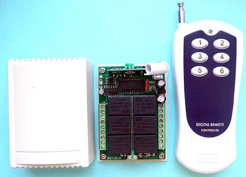 Выключатель дистанционный 6-канальный RC-6-12-FP на радиочастоте