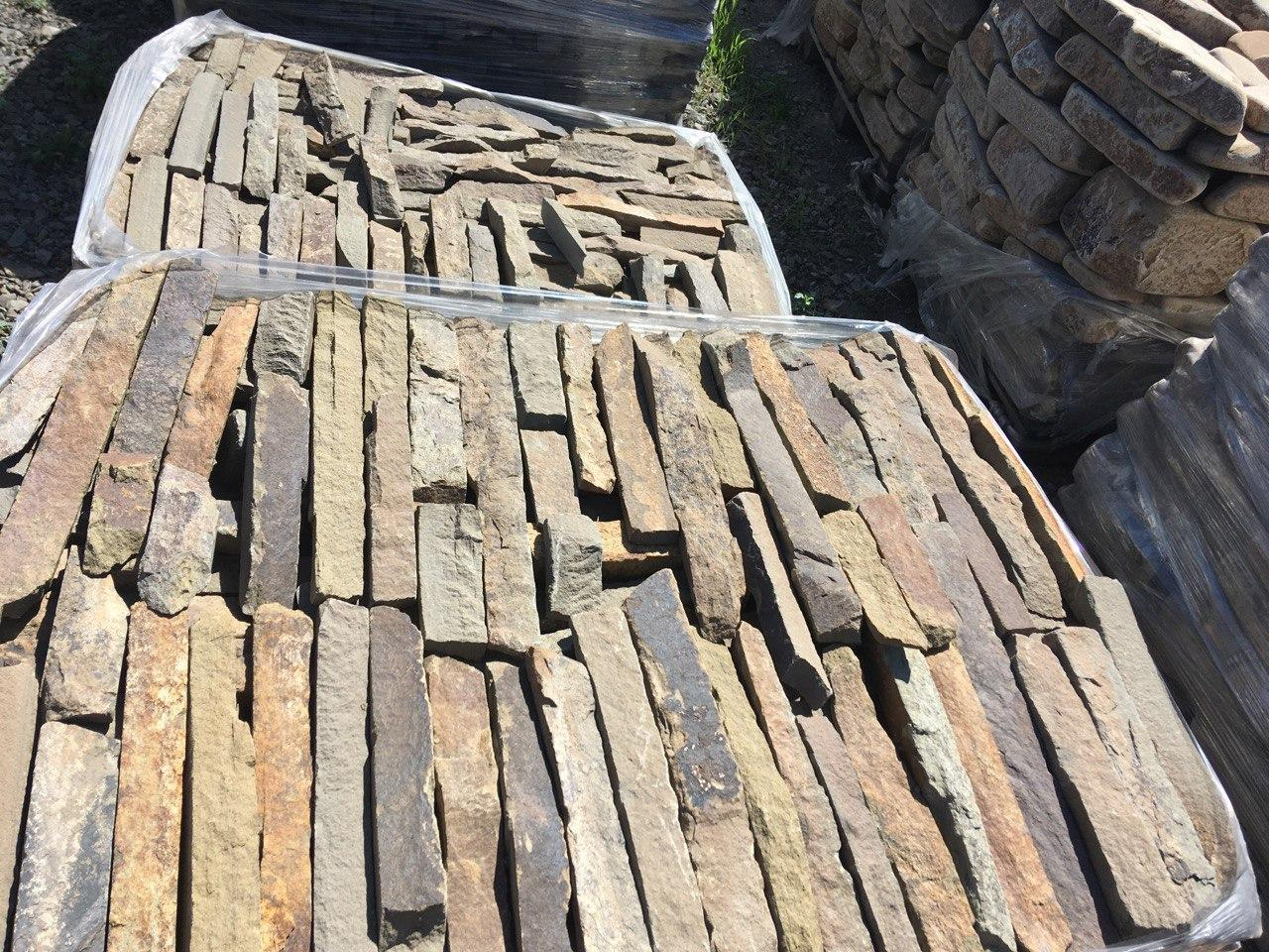 Плитка песчаник пиленный с 1-й стороны Серая Казачка