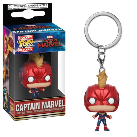 Брелок Funko POP! Keychain: Marvel: Captain Marvel: Captain Marvel (with Helmet)