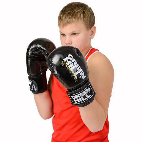 Перчатки боксерские Panther BGP-2098, Green Hill чёрные