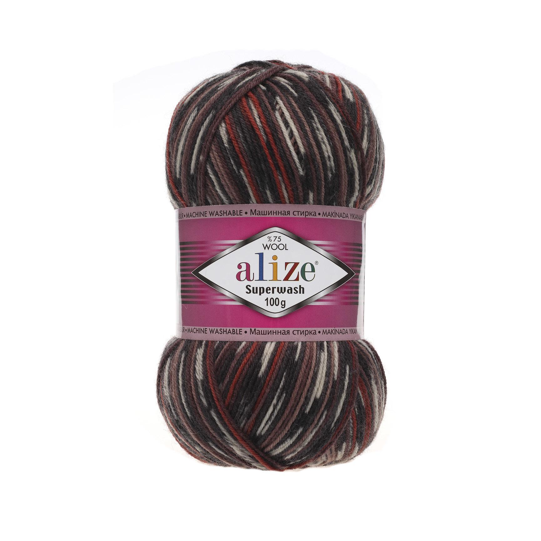 Alize Superwash 6766 черн-коричн